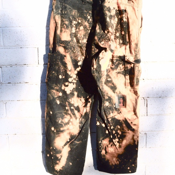 Anti Culture Other - Black Tie Dye Reverse Bleach Medusa Pants Grunge